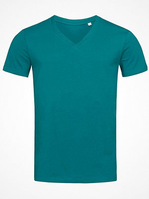 Stedman James Organic Men V-Neck Bluegreen