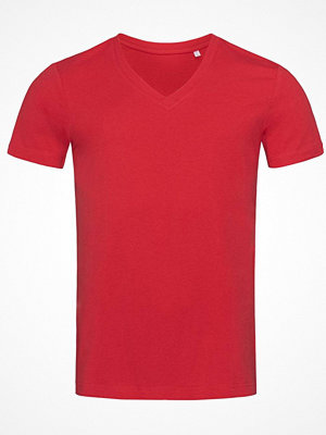 Stedman James Organic Men V-Neck Red