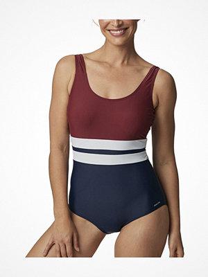Abecita Piquant Swimsuit Navy/Red