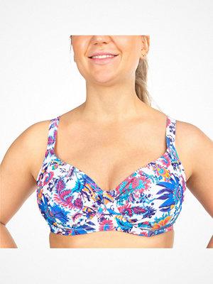 Damella Sophia Floral Underwire Bikini Bra White Pattern-2