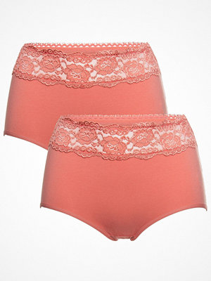 Trofé 2-pack Trofe Lace Trimmed Maxi Briefs Coral