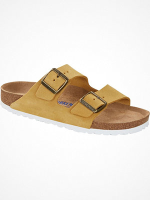 Tofflor - Birkenstock Arizona Suede Soft Footbed Yellow