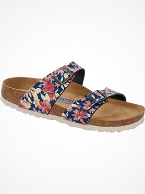 Birkenstock Sydney Soft Footbed Blue Pattern