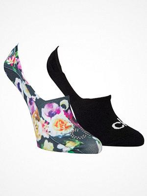 Calvin Klein 2-pack Abby Floral Print Sneaker Socks Black