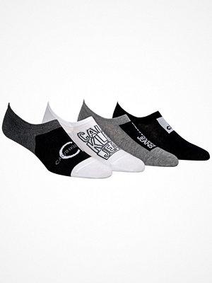 Calvin Klein 4-pack Sneaker Liner Socks Gift Box Black/Grey