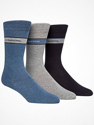 Strumpor - Calvin Klein 3-pack Adam Bamboo Socks Blue/Grey