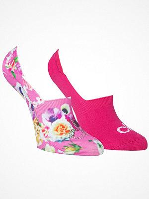 Calvin Klein 2-pack Abby Floral Print Sneaker Socks Pink