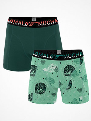 Muchachomalo 2-pack Cotton Stretch Casino Royale Boxer Green Pattern