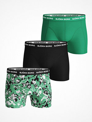 Björn Borg 3-pack Essential Shorts 213 Black/Green
