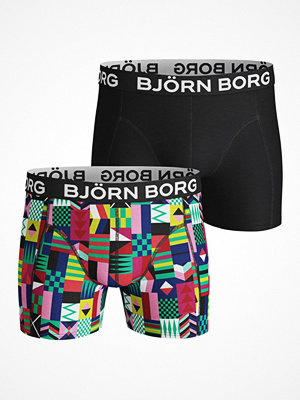 Björn Borg 2-pack Cotton Stretch Shorts 212 Black pattern-2