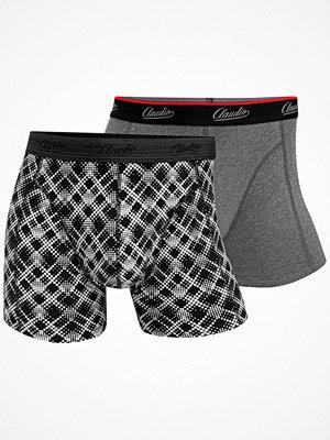 Claudio 2-pack Mens Trunk Black/Grey
