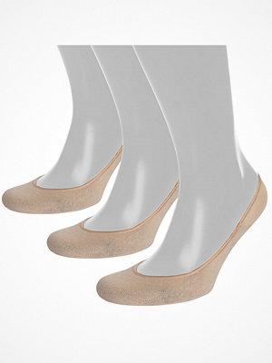 Strumpor - Pierre Robert 3-pack Cotton Steps Sock Beige