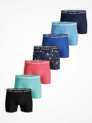Björn Borg 7-pack Essential Shorts 217 Blue Pattern