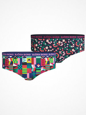 Björn Borg 2-pack Cotton Stretch Hipster For Girls 212 Blue Pattern