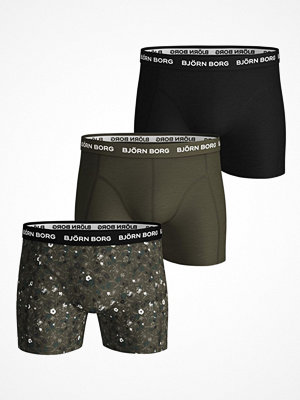 Björn Borg 3-pack Essential Shorts 213 Darkgreen