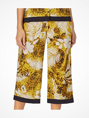DKNY Rooftop Ready Wide Capri Pant Yellow Pattern