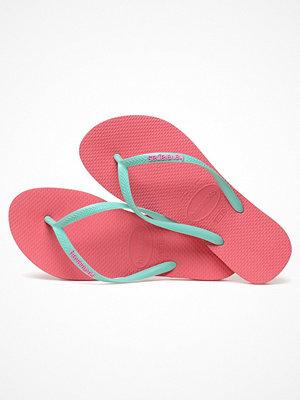 Tofflor - Havaianas Slim Logo Pink