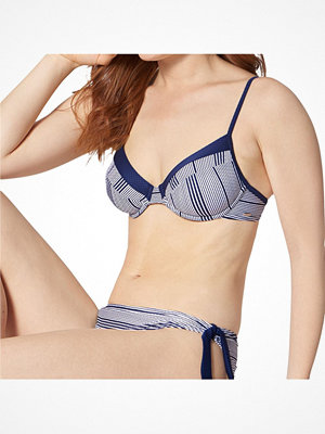 Triumph Summer Waves Underwire Bikini Bra Blue Pattern
