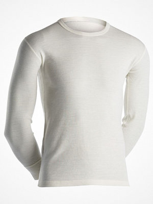 Dovre Long Sleeve Wool Crew Neck White