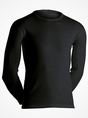 Dovre Long Sleeve Wool Crew Neck Black