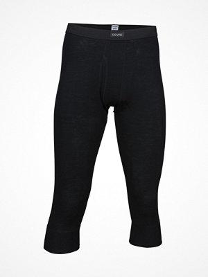 Dovre Wool Three Quarter Long Johns  Black