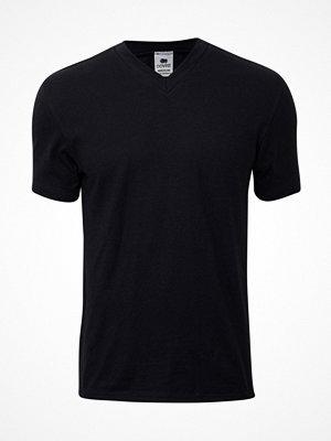 Dovre Single Jersey  V-neck T-Shirt Black