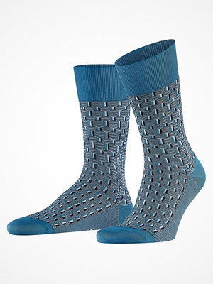 Falke Strap Boundary Sock Blue Pattern