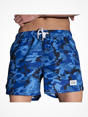 Frank Dandy Breeze Camo Swim Shorts Blue Pattern