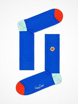 Happy Socks Happy Socks Embroidery Sunny Smile Sock Blue