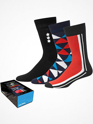 Salming 3-pack Gift Box Mens Socks Navy pattern