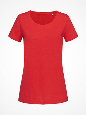 Stedman Sharon Slub Women Crew Neck Red