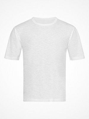 Pyjamas & myskläder - Stedman Organic Slub Men Crew Neck White