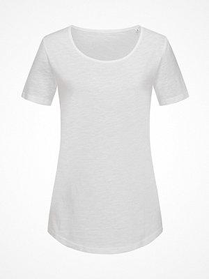 Pyjamas & myskläder - Stedman Organic Slub Women Crew Neck White