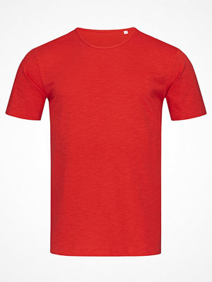 Stedman Shawn Slub Men Crew Neck Red