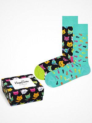 Happy Socks 2-pack Happy Socks Cat Gift Box Green Pattern