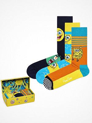 Happy Socks 3-pack Happy Socks Sponge Bob Gift Box Yellow Pattern