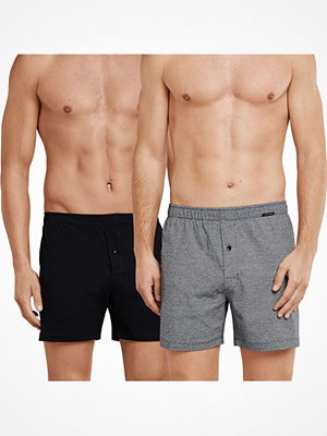 Schiesser 2-pack Essentials Cotton Boxer Shorts Grey