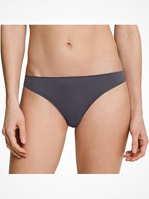 Schiesser Invisible Lace String Darkgrey