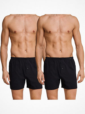 Schiesser 2-pack Essentials Jersey Boxer Shorts Black