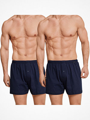 Schiesser 2-pack Essentials Jersey Boxer Shorts Navy-2