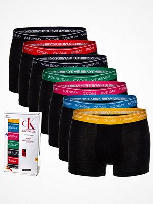Kalsonger - Calvin Klein 7-pack CK One Days Of The Week Trunks Black