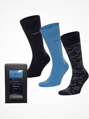 Hugo Boss 3-pack BOSS RS Socks Gift Box Blue Pattern