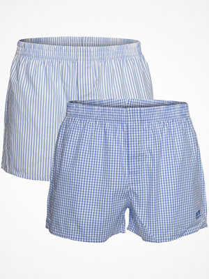 Kalsonger - Hugo Boss 2-pack BOSS Woven Boxer Shorts With Hidden Fly Blue