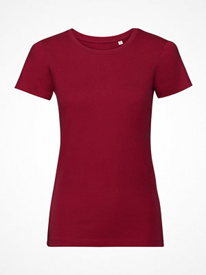 Russell Pure Organic Authentic Women T-shirt Red