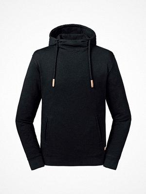 Russell Pure Organic High Collar Hooded Sweat Black