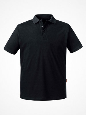 Russell Pure Organic Men Polo Black