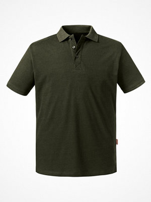 T-shirts - Russell Pure Organic Men Polo Olive