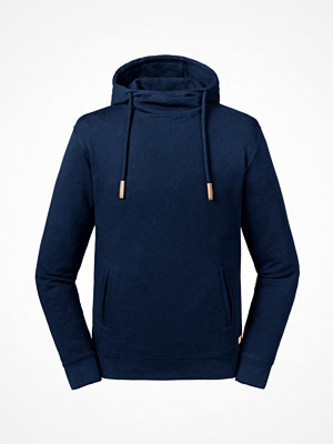 Russell Pure Organic High Collar Hooded Sweat Navy-2