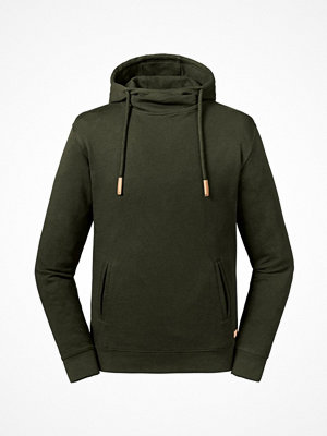Russell Pure Organic High Collar Hooded Sweat Olive
