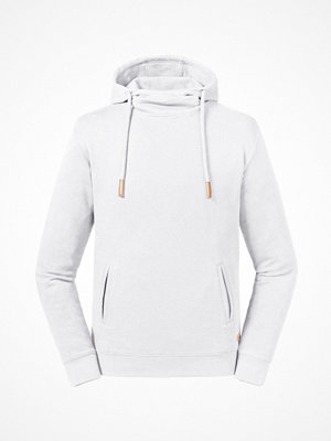 Russell Pure Organic High Collar Hooded Sweat White